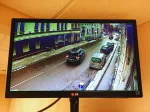 Видеонаблюдение территории возле здания
